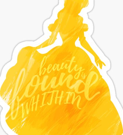 Beauty is found within Sticker