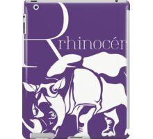 ABC-Book French Rhinoceros iPad Case/Skin