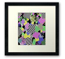 Crazy Squares Framed Print
