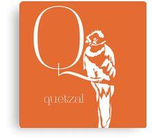 ABC-Book French Quetzal Canvas Print
