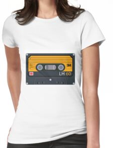 vintage audio tapes Womens Fitted T-Shirt