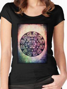 Mandala Rainbow Drips Women's Fitted Scoop T-Shirt