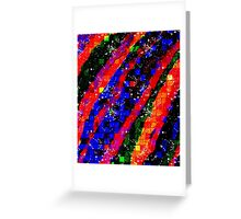 Colorful Bold Stripe Square Geometric Greeting Card