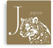 ABC-Book French Jaguar Canvas Print