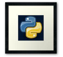 Python logo Framed Print