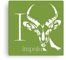 ABC-Book French Impala Canvas Print