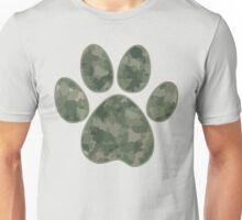 Camouflage Green Dog Paw Unisex T-Shirt