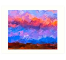 Boundless Dreams - Colorful Abstract Landscape Art Print
