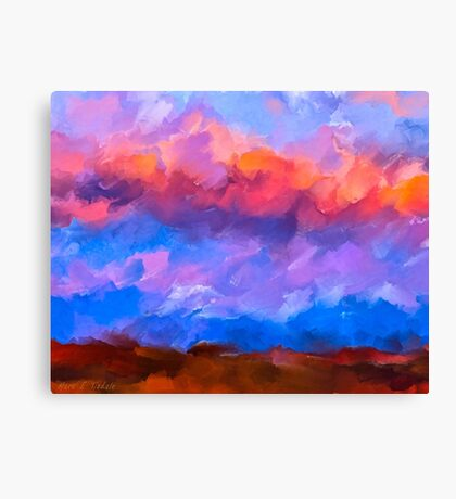 Boundless Dreams - Colorful Abstract Landscape Canvas Print
