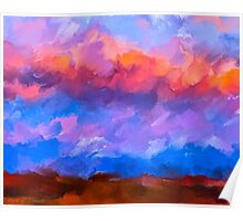 Boundless Dreams - Colorful Abstract Landscape Poster