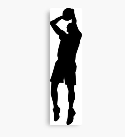 Basketball sport silhouette Canvas Print