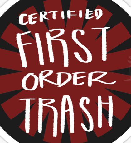 First Order Trash Sticker