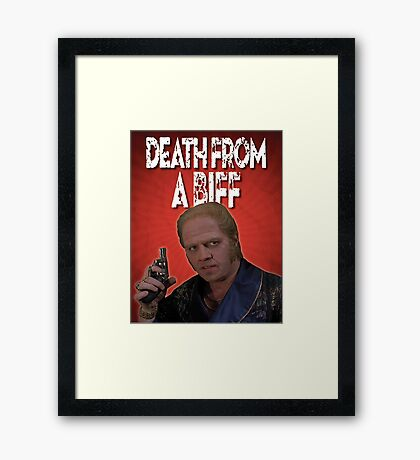 Death from a Biff! Framed Print