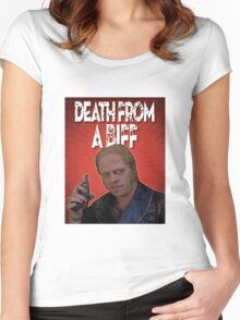 Death from a Biff! Women's Fitted Scoop T-Shirt
