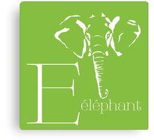ABC-Book French Elephant Canvas Print