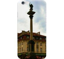 Sigismund's Column and John's House Warsaw Poland iPhone Case/Skin