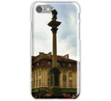 Sigismund's Column and John's House Warsaw Poland iPhone Case/Skin