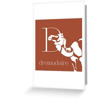ABC-Book French Dromedary Greeting Card
