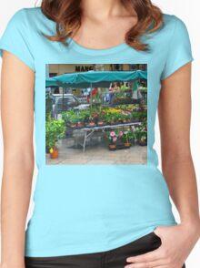 VENTE DE FLEURS SOUS LA PLUIE Women's Fitted Scoop T-Shirt