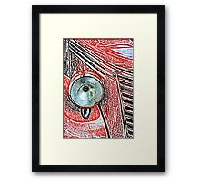 Headlight of an old car Framed Print