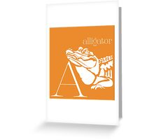 ABC-Book French Alligator Greeting Card