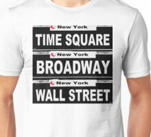 NEW YORK Street Sign Scenes of New York  Unisex T-Shirt