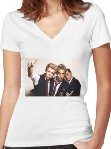Busted Women's Fitted V-Neck T-Shirt