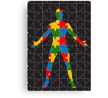 puzzle human body Canvas Print