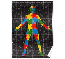 puzzle human body Poster