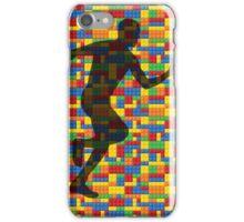 Lego - human body - running man  iPhone Case/Skin