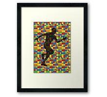 Lego - human body - running man  Framed Print