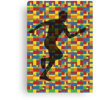 Lego - human body - running man  Canvas Print