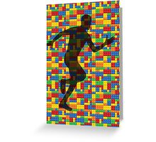 Lego - human body - running man  Greeting Card