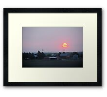Sun Farm Framed Print