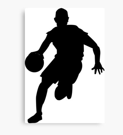 Sport basketball silhouette Canvas Print