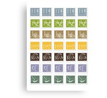 ABC-Book French Stamps #2 Canvas Print