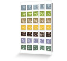 ABC-Book French Stamps #2 Greeting Card