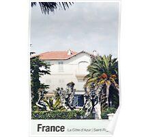 France | On Avenue de Boulouris (Saint-Raphaël) Poster