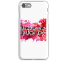 Drinking Wine Watercolor iPhone Case/Skin