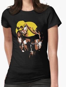 The yellow Jersey, the champ, retro style cycling Womens Fitted T-Shirt