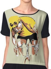 The yellow Jersey, the champ, retro style cycling Chiffon Top