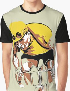 The yellow Jersey, the champ, retro style cycling Graphic T-Shirt