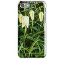 A white flower bells iPhone Case/Skin