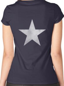 Black ★ Rock Shooter Star Women's Fitted Scoop T-Shirt