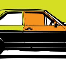 Pop art car Sticker
