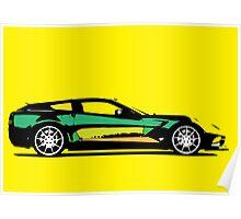 Pop art car Poster