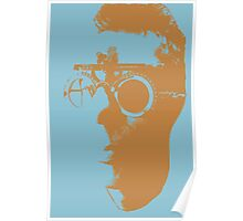Blue Opthalmic Head Poster