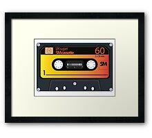 vintage audio tapes Framed Print