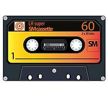 vintage audio tapes Photographic Print