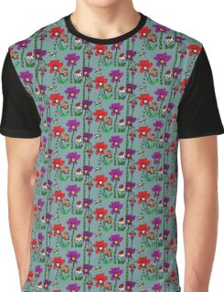 Spring Garden of Mo's Flowers Graphic T-Shirt